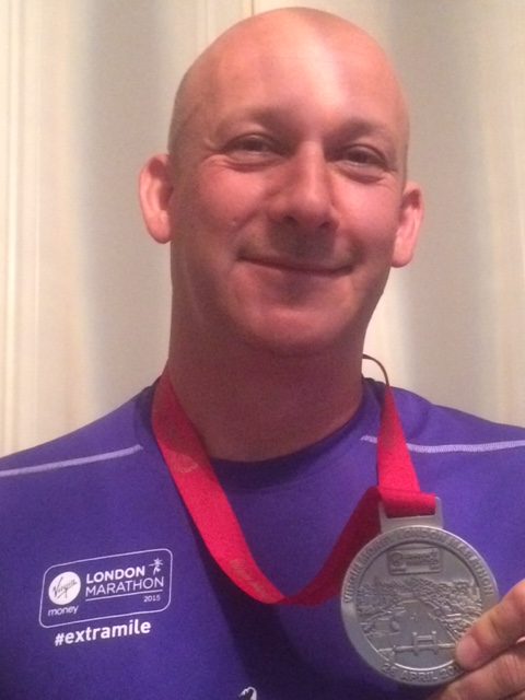 Darren with Medal